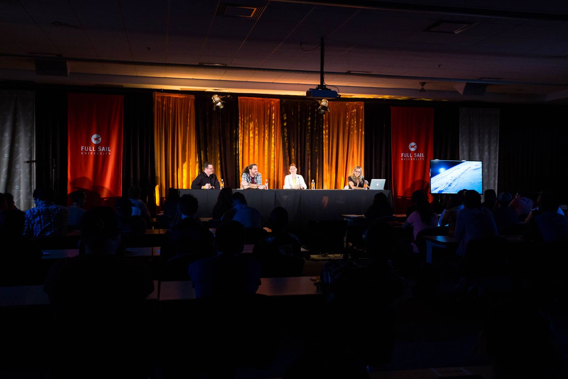 David C. Glass on a panel discussion at Full Sail University Hall of Fame